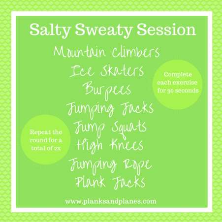 Salty Sweaty Session Cardio Workout